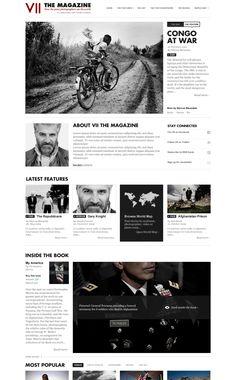 VII – The Magazine web layout.