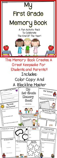 Are you looking for fun activities for the end of the year? This first grade memory book includes everything you need to wrap up the school year!