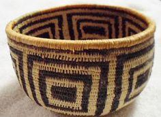 Wounaan Embera Indian Woven Bowl Basket-Panama 16063003L