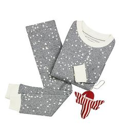 Twinkle Bee Pajama & Ornament Set: Color - Heather Grey