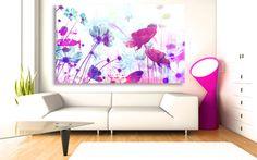 Tableau Fleurs romantiques par Izoa Canvas Flowers by Izoa