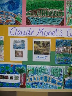Monet's garden lesson plan from Color, Collage, and Much More
