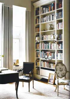 Veere Greeney For our home office My Living Room, Living Spaces, Home Office, Interior Office, Office Desk, Home Libraries, Apartment Design, Interiores Design, My Dream Home