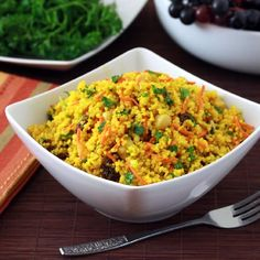 Curried Couscous Salad.  Packed full of flavor and healthy ingredients!