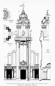 Design for the Palace of French Applied Art at the Franco-British Exhibition