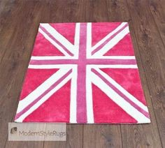 Kiddy Play Mini Jack Bright Pink Modern Style Rugs Kids At Affordable Prices