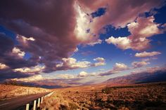Route 395 in California on our way to Mammoth Lakes