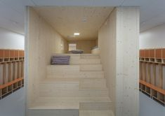 Image 10 of 23 from gallery of Taika Kindergarten / OOPEAA. Photograph by Mikko Auerniitty Play Spaces, Suites, Kids Bedroom, Kids Rooms, Architecture Details, Interior Styling, Stairs, Gallery, Building