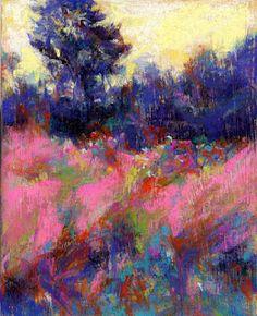 Pink Fields - pastel ©Susan E. Pastel Landscape, Landscape Art, Landscape Paintings, Paintings I Love, Beautiful Paintings, Pastel Paintings, Horse Paintings, Portrait Paintings, Acrylic Paintings