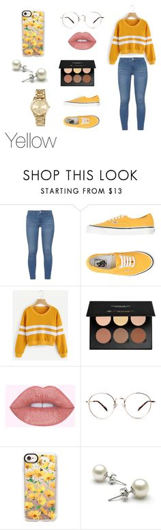 """""""Yellow"""" by itsmylife-sandra ❤ liked on Polyvore featuring Dorothy Perkins, Vans, Anastasia Beverly Hills, Casetify and MICHAEL Michael Kors"""