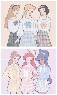 Cute Disney Drawings, Disney Princess Drawings, Disney Princess Art, Anime Princess, Disney Artwork, Disney Fan Art, Disney Dream, Disney Love, Image Princesse Disney