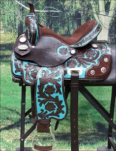 OS204A- HILASON WESTERN BARREL RACING TRAIL PLEASURE SADDLE 14