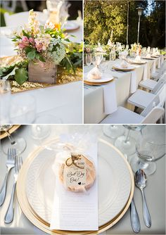 flower box centerpieces and edible favors @weddingchicks