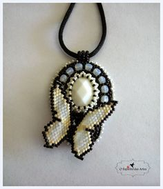 Embroidery Pendant with Butterfly
