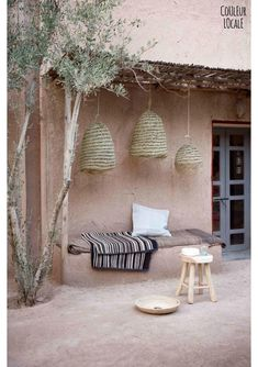 Maroc / Taking pictures dans l'Atlas pour Couleur locale / - Autos Online Interior Exterior, Interior Modern, Exterior Design, Ibiza Style Interior, Interior Colors, Interior Paint, Room Interior, Outdoor Spaces, Outdoor Living