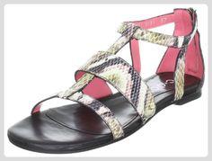C. Doux 6061, Damen Sandalen/Fashion-Sandalen, Beige (C/404, negro, multicolor), EU 40.5 - Sandalen für frauen (*Partner-Link)