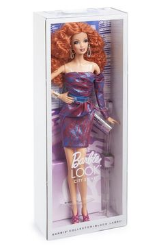 Free shipping and returns on Mattel 'The Barbie Look® - City Shine™' Doll at Nordstrom.com. A collectible Barbie doll with gorgeous red hairis dressed to impress with a shimmering minidress, strappy pumps, clutch and accessories along with a stand for easy display.