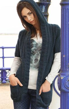 LANA GROSSA: Filati Journal 46 Modell 99: Kapuzen-Jacke ohne Verschluss (Alta Moda Super Baby)