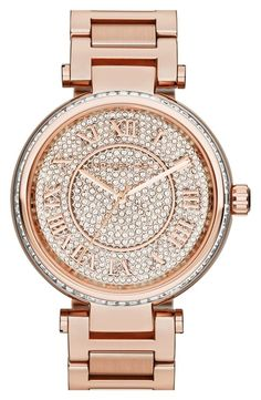 Michael Kors 'Skylar' Pave Dial Bracelet Watch, 42mm from Nordstrom on shop.CatalogSpree.com, your personal digital mall.