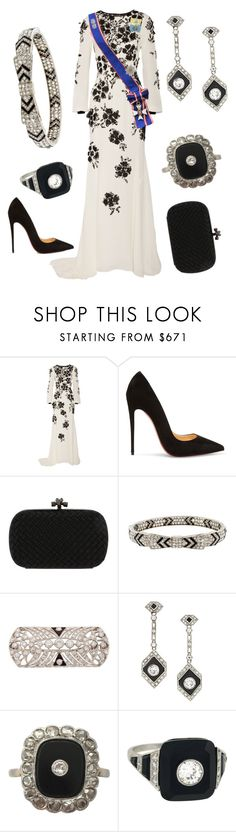 """""""New Years Courts Day 3"""" by nmccullough ❤ liked on Polyvore featuring Oscar de la Renta, Christian Louboutin and Bottega Veneta"""