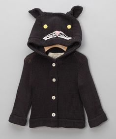 Black Cat Sweater - Infant & Toddler by Animal Boutique on #zulilyUK today!
