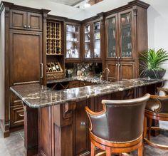 Gentleman's Lounge/Bar by Elmwood Fine Custom Cabinetry