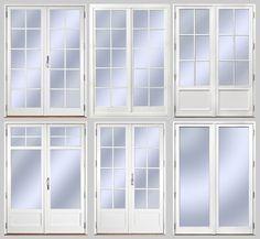 1. Utåtgående Sverige Fönster parfönsterdörr med spröjs SP4:1 2. Inåtgående Europa Fönster parfönsterdörr med avtagbar spröjs SP4:1 3. Utåtgående Sverige Fönster parfönsterdörr med isolerad bröstning och äkta wienerspröjs i trä WSP2:1 4. Utåtgående Sverige Fönster parfönsterdörr med isolerad bröstning och glasdelande post GDP1:0 och avtagbar spröjs SP1:1 5. Utåtgående Sverige Fönster parfönsterdörr med isolerad fyllning och äkta wienerspröjs i trä WSP3:1 6. Utåtgående Sverige Fönster ...