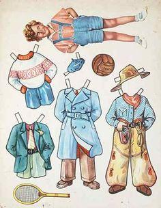 J.S.J. Wien boy paper doll