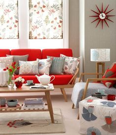 14 Salas Decoradas con Sofás color Rojo                              …