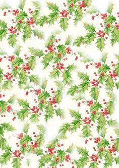 papier Noel-fond Noel-papier houx-hiver-paper-background