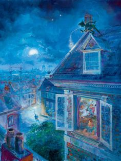 Waiting for Peter Pan: By Harrison Ellenshaw- I want this painting SO badly.