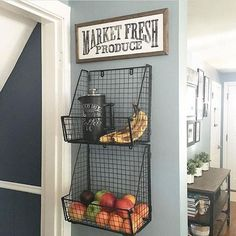 18 Awesome DIY Farmhouse Produce Rack Decor Ideas