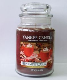 Yankee Candle Peppermint Cocoa : The irresistible aroma of rich, steaming hot cocoa with a peppermint twist warms the soul.