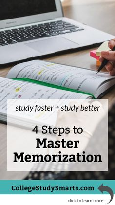 Study faster and better with these four steps to master memorization and ace your college and university exams. | Memorization Tips + Exam Prep, memorization, memorization tips, memorization strategies, memorization techniques, memorization hack, memorization for exams, study tips, study skills,  online exam memorization, university memorization, college memorization