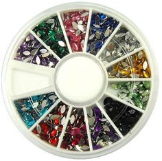 1-Sets Marvelous Popular 3D Acrylic Nail Art Wheels Tools Kit Case Fashion Salon Supplies Color Style Glitter Oval * Read more  at the image link.
