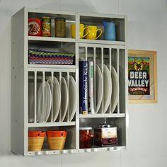 Küchenregal rostfrei hellgrau praktisch und vintage - kitchen rack ...   {Küchenregal 83}