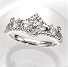 Minnie Mouse Inspired Wedding Ring.