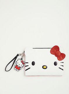 Hello Kitty Glitter Bow Clutch, , hi-res