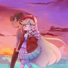 Perfect Date : StarVStheForcesofEvil Foto Cartoon, Cartoon Crazy, Star E Marco, Starco Comic, Disney Xd, Couple Cartoon, Star Butterfly, Force Of Evil, Cute Anime Couples