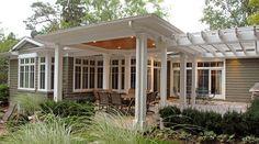 Covered patio + pergola