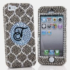 Bling Cases, Crystallized monogram Metallic Ornate design case for iphone 5, iphone 5s, iphone 6, Samsung Galaxy S4, S5, Note 2, Note 3, LG, HTC, Sony – LuxAddiction.com