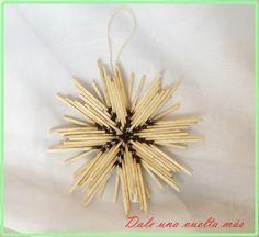 Originales estrellas para el árbol hechas con... ¡cerillas!