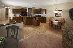 WestViews Builders | Highwood Villas | Calgary | Kitchen/Living room Living Room Kitchen, Calgary, Villas, Bungalow, Luxury, Furniture, Home Decor, Homemade Home Decor, Mansions