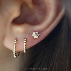 Bar Stud Earrings, Cartilage Earrings, Silver Hoop Earrings, Crystal Earrings, Cartilage Hoop, Cartilage Piercings, Double Ear Piercings, Ear Peircings, Pandora Earrings