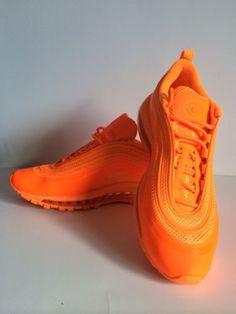 Nike Air Max 97 Hyperfuse Total Orange Neutral Grey SZ 8(518160-880 )