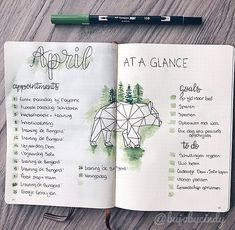 My April at a glance spread. I normally dont do monthly spreads because I always forget to fill them in, But I recently started to make…