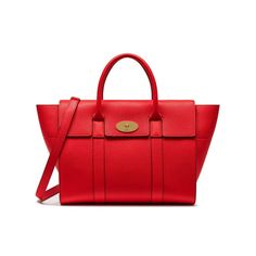 c5c5cd05855 Shop the Bayswater with Strap in Fiery Red Leather at Mulberry.com. The  Bayswater