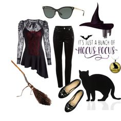 Hocus Pocus, a witchy ensemble for Halloween featuring Ray-Ban Halloween Costumes Glasses, Costumes With Glasses, Eyeglass Stores, Hocus Pocus, Eye Glasses, Eyewear, How To Wear, Shopping, Fashion