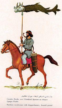 ((ARSACID - Parthian)) Azhidahak (Dragon) Standard Bearer Cavalryman