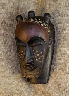 African Masks - Kuba Mask 12 - Partial Left - Click to return to the top of the page.
